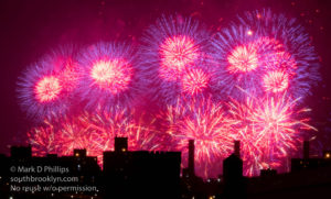 Macy's Fourth of July Fireworks fill the sky above the city. ©Mark D Phillips