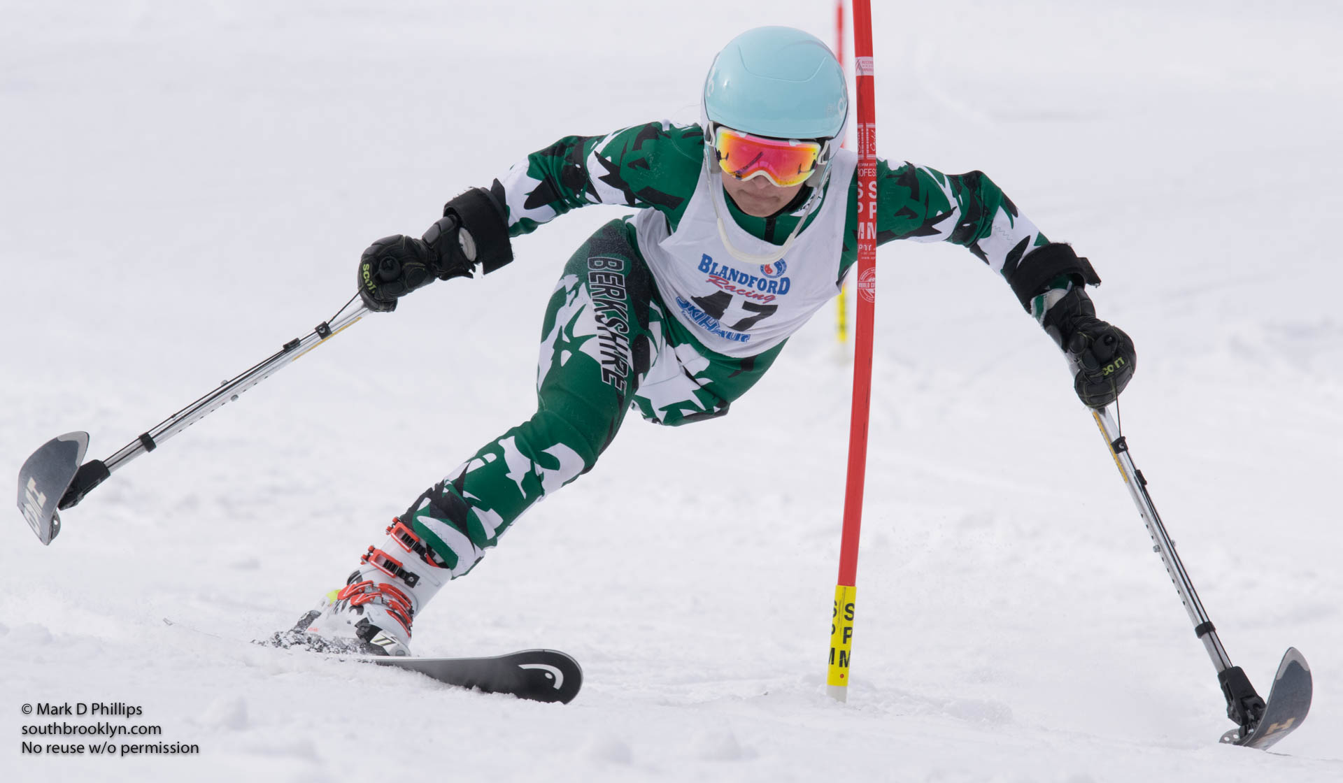 Insha Afsar of BSST at U19 Race at Blandford Ski Area on January 30, 2016
