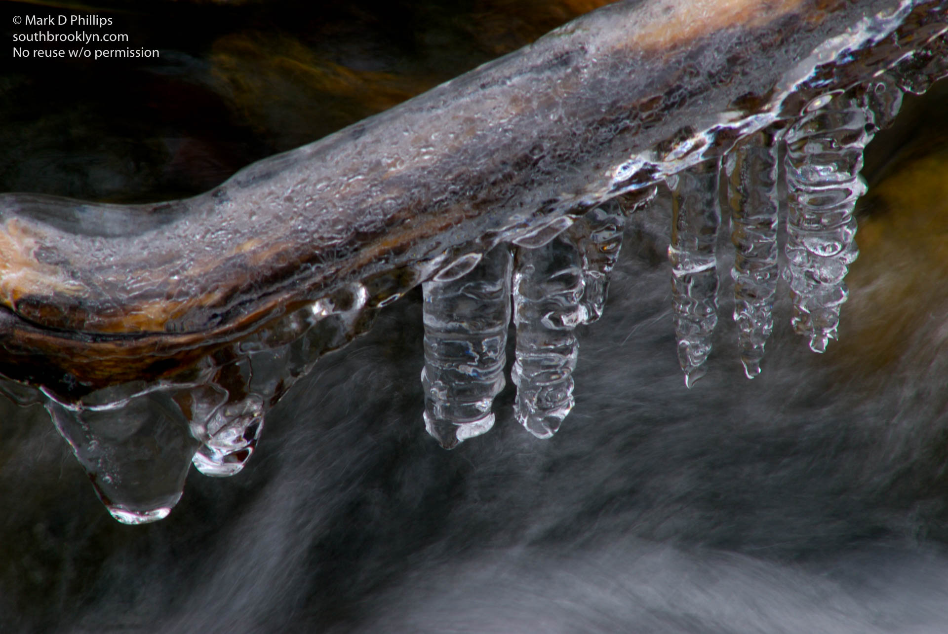 Ice forms