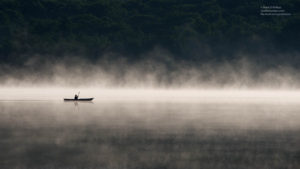 Taken on Big Pond in Otis, MA, just after sunrise. The morning fog and light were magical. Printed on Metallic paper
