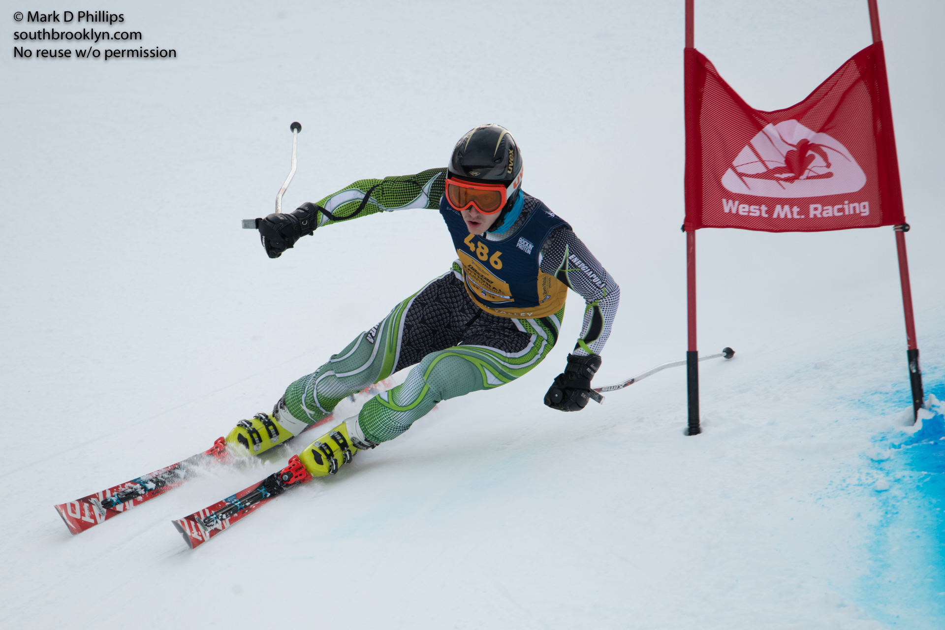 USSA Masters GS race at West Mountain Ski Area in Queensbury, NY