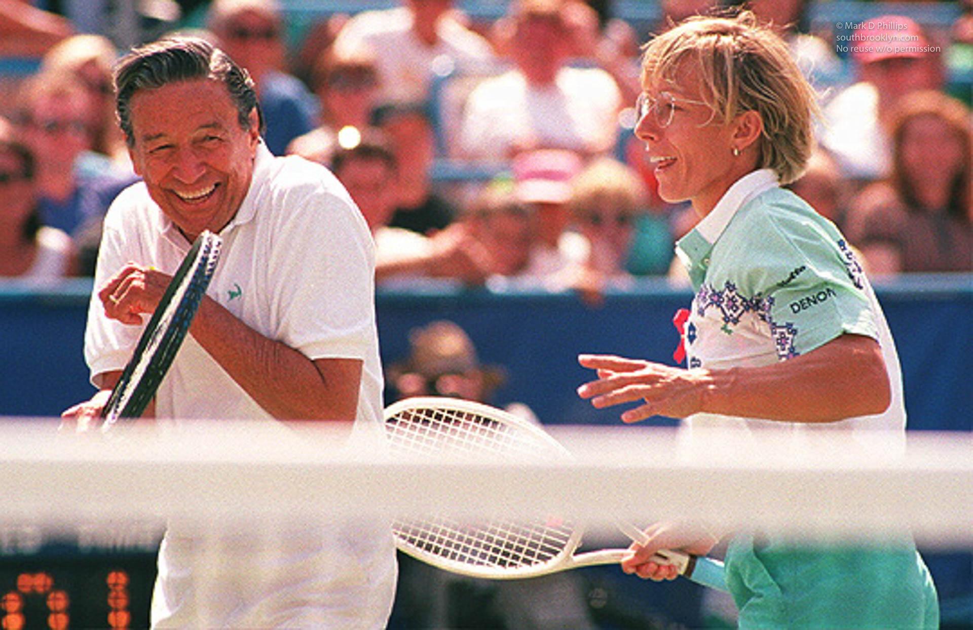 Martina Navritilova and Mike Wallace at Arthur Ashe Day at the US Open