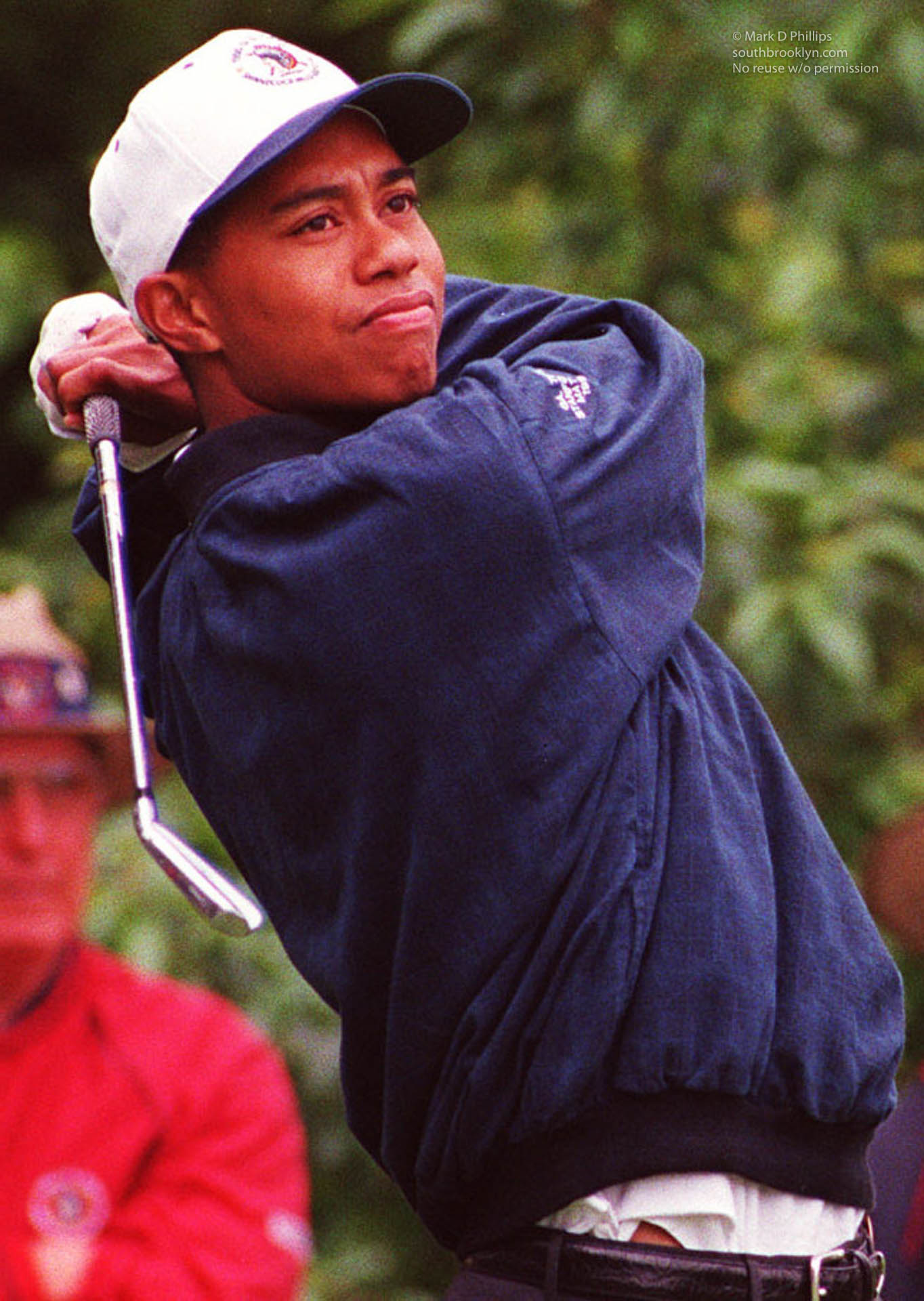 Tiger Woods as amatuer in 1986