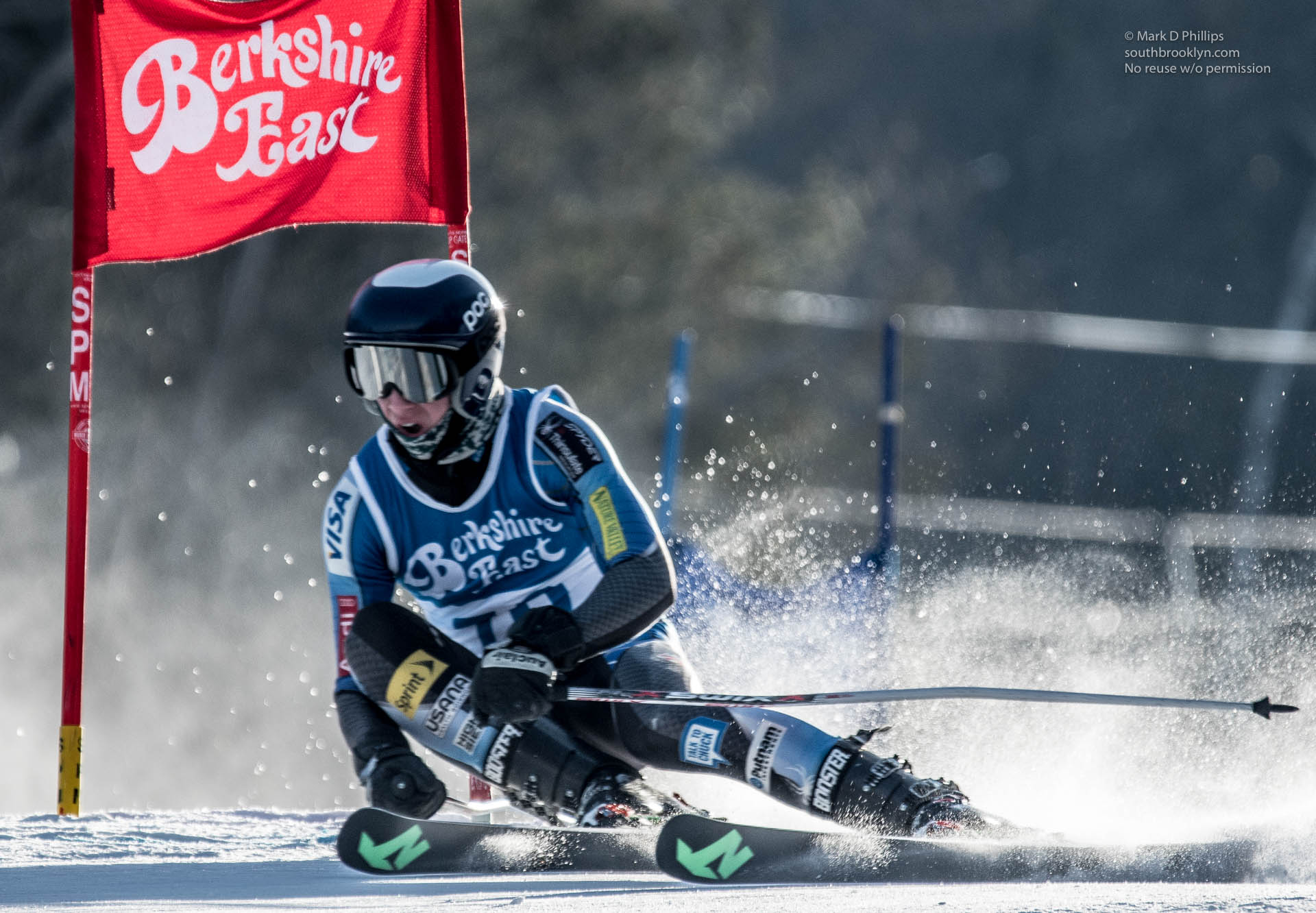 Quin TAYLOR at the Seibert Cup GS race at Berkshire East on January 27, 2018.