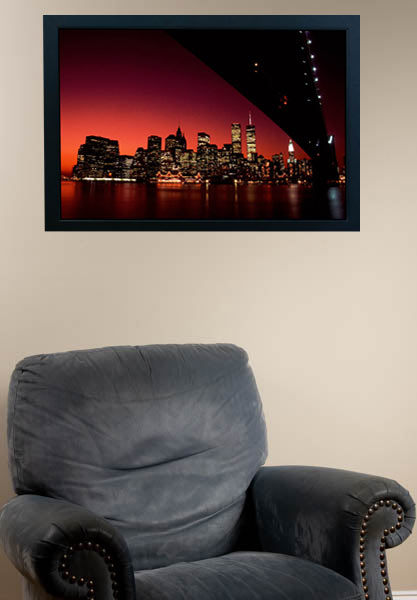 RED SKY, Lost in Brooklyn, on a living room wall ©Mark D Phillips