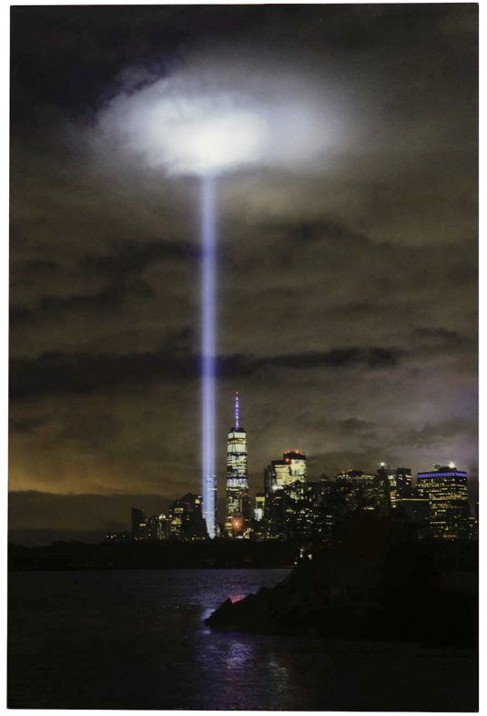 Tower of Light 9/11 Metal Print by Mark D Phillips